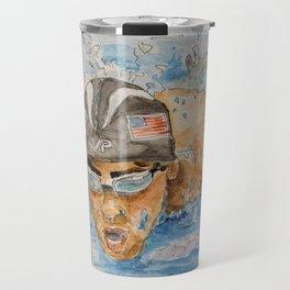 Michael Phelps Swimmer Travel Mug