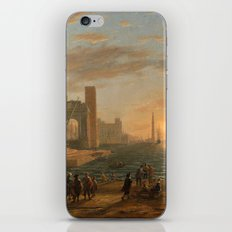 A Seaport by Claude iPhone & iPod Skin