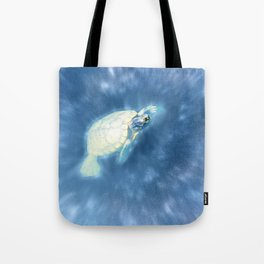 Psychedelic Space Turtle Tote Bag
