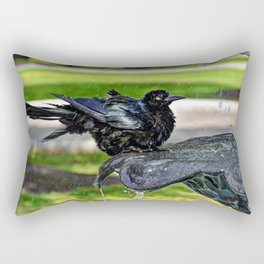 Common Grackle Bath Rectangular Pillow