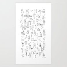 Who Are These People? Art Print