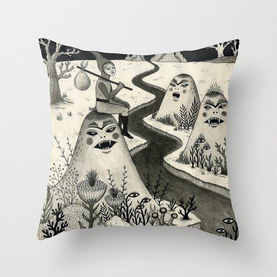 Weary Vagabond  Throw Pillow