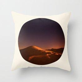 Desert Sunset & Stars In The Sky Throw Pillow