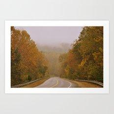 Autumnal Roads Art Print