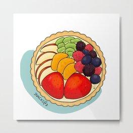 Delicious colorful fruit tart Metal Print