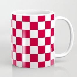 Red and White Check Coffee Mug
