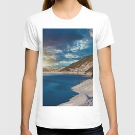Swiss Alpine Winter Sunset T-shirt