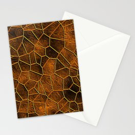 Mosaic LORA,warm brown Stationery Cards