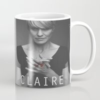house of cards Mugs featuring Claire Underwood / House of Cards by Earl of Grey