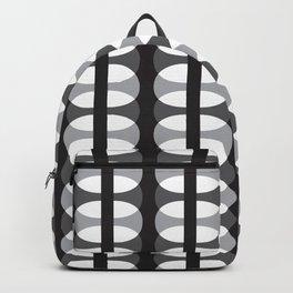 Geometric Pattern 186 (gray ovals) Backpack