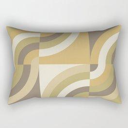Retro Geometry III Rectangular Pillow
