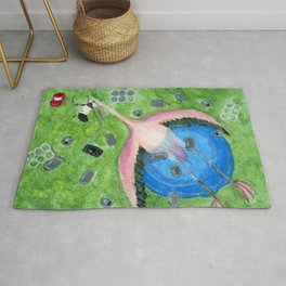 Yard Flamingo Kiddy Pool Rug