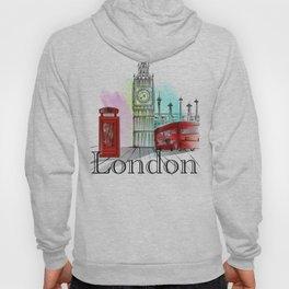 London,bigben design Hoody