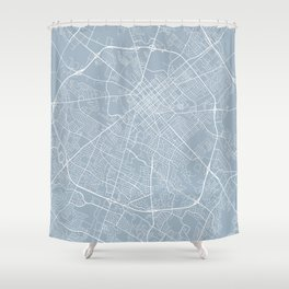 Lexington Map, USA - Slate Shower Curtain