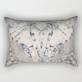 Indian Elephant Mandala Rectangular Pillow