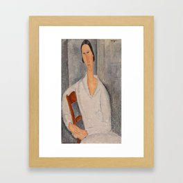 Hanka Zabrowska by Amedeo Modigliani, 1919 Framed Art Print