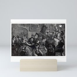 Witchcraft in 1871 an exciting seance old Art Mini Art Print