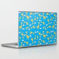 giraffes Laptop & iPad Skins featuring giraffes  by lindseyclare