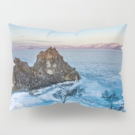 Shaman Rock on Olkhon Island, Baikal Pillow Sham