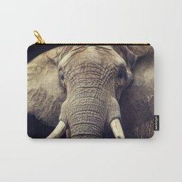 Elephant portrait Carry-All Pouch