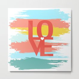 love abstract background Metal Print
