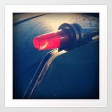 Vintage Tail Light Art Print