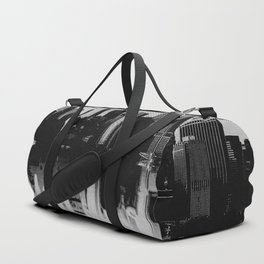 New York City in Halftone Dots Duffle Bag
