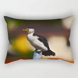 A Shag On A Crooked Pole In The Harbor Rectangular Pillow