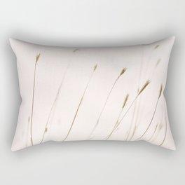 Tall grass against cloudy sky Rectangular Pillow