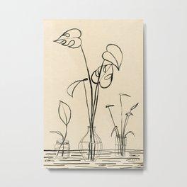 Line drawing leaves #2 Metal Print