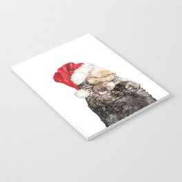 Christmas Otter Mother and Child Notebook