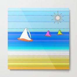 Sail Away - Summer and Beach Art Metal Print