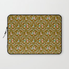 Retro Bathers in Antique Gold Laptop Sleeve