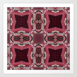 Soft Red Quadrant Art Print