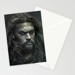 New Aquaman - Jason Momoa portrait Stationery Cards