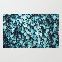 Blue Leaves | Vine | Photography | Turquoise | Botanical | Nature | Tropical | Spring Rug