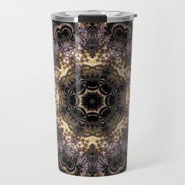 Purple and Gold Fractal Kaleidoscope 2 Travel Mug