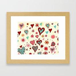 HEART--DRAW Framed Art Print