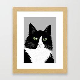 Henri the Existential Cat Framed Art Print