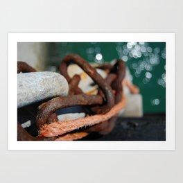 Rusty Chain Art Print