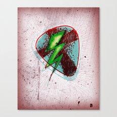 LIGHTNING GUITAR PICK Canvas Print