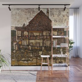 "Egon Schiele ""House with Shingle Roof (Old House II)"" Wall Mural"