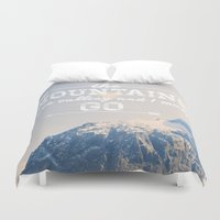 the mountains are calling Duvet Covers featuring The Mountains are Calling by Alisha KP