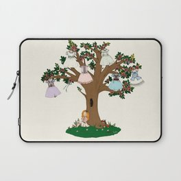 Lilith et Adalia's Blooming Dresses Laptop Sleeve