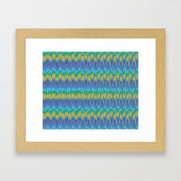 Abstract Digital Artwork Lavender Field Framed Art Print