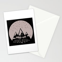 Shred the Gnar Stationery Cards