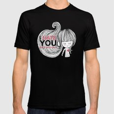I Hate You (but i love you) #hatelove Mens Fitted Tee Black MEDIUM