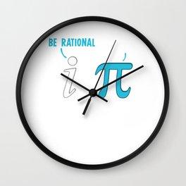 Be Rational Get Real Funny Math Joke Wall Clock