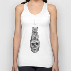 The Cat, The Skull, The Cross Unisex Tank Top