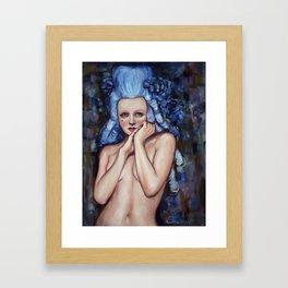 Blue Wig Framed Art Print